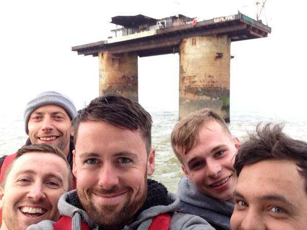 More redevelopment and improvements on our little country @Liamofsealand @jamesofsealand @barto_22  #Sealand  #selfie http://t.co/THNyYwFHKb