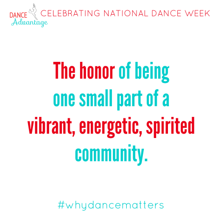 Because dance IS community. #whydancematters #nationaldanceweek http://t.co/6Kb5PGMa6R