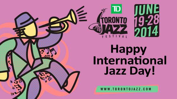 HAPPY INT JAZZ DAY! RT for you chance to win tickets to Holland/Scofield June 26! #TOjazzfest2014 #TDmusic #JazzDay http://t.co/z9LHDZpchK