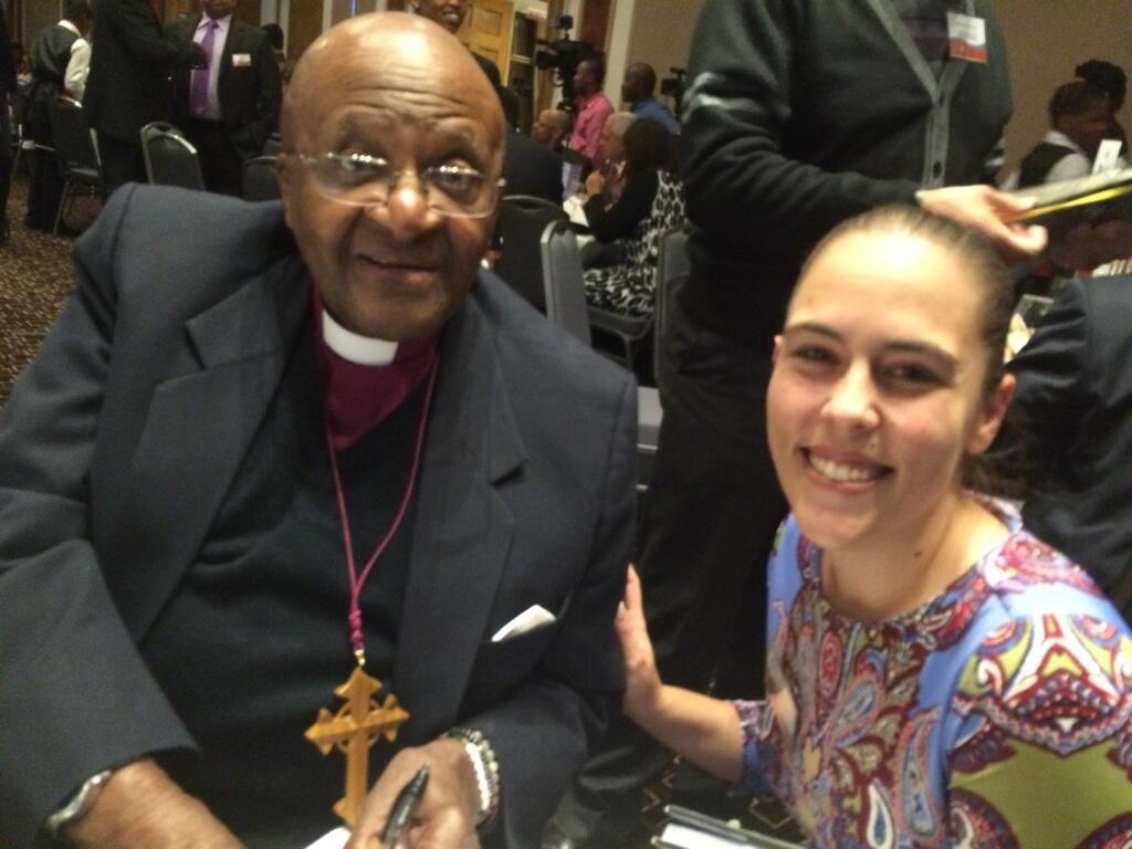 #UbuntuAwards Archbishop Desmond Tutu & @gilljourno @ProudlySA @TheDesmondTutu http://t.co/YpZq0EVdRG