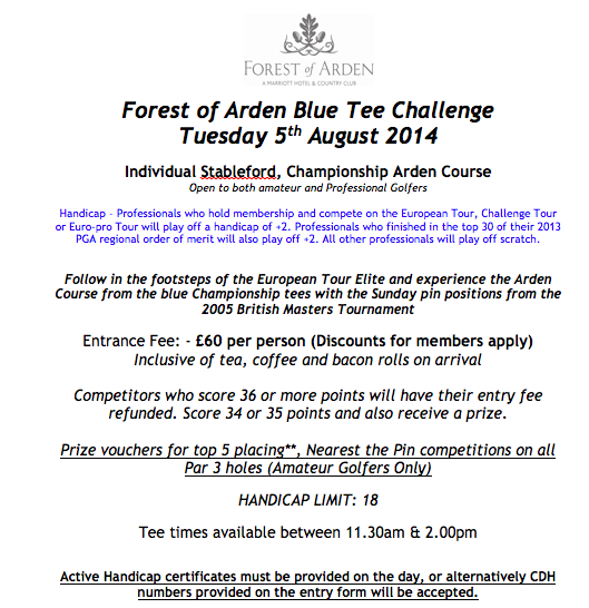 Great new tournament at the Forest of Arden http://t.co/VImxw0k9iV