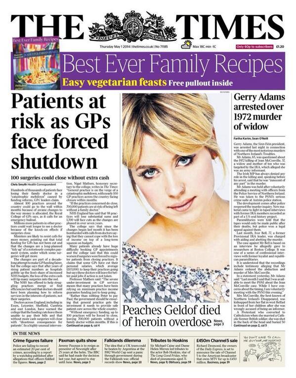 Peaches Geldof died of heroin overdose, coroner to report tomorrow http://t.co/pe6SQvBBFv