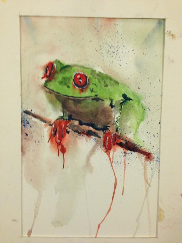 Second watercolour at art group tonight. http://t.co/K9HWDCcidx