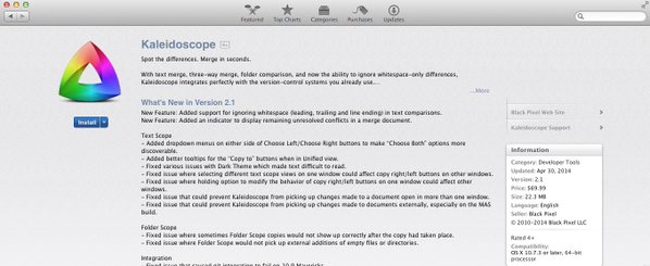 First report of 2.1 in the Mac App Store. http://t.co/TeDOABqAHR