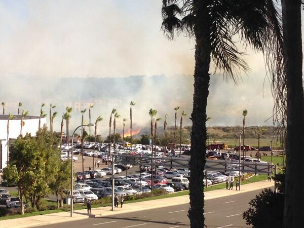Vegetation fire. NewportBeachPD: AVOID Jamboree from University to Macarthur MT @Mike_E_Carr: Fire in #newportbeach http://t.co/4rVDYTPenc