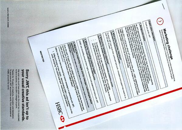 Today we celebrate 10 years with HSBC. Our clients have surprised us with an ad in @Campaignmag today #togetherforten http://t.co/VmBzK9t3PL