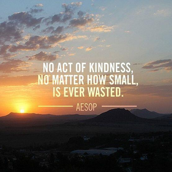 No act of #kindness, no matter how small, is ever wasted... http://t.co/FTn2Jyy0jj via @Ryanintheus RT @emitoms
