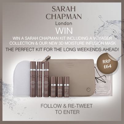 #WIN an exclusive Sarah Chapman kit featuring our brand new 3D Moisture Infusion Mask! Follow & RT to enter! http://t.co/xVjlIbpksc