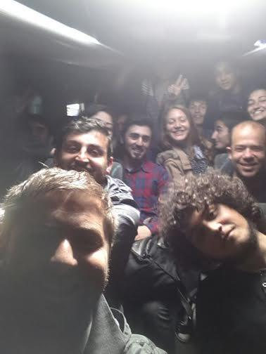 Selfie from the detained protestors in the police bus #MayDay #Turkey #1Mayıs http://t.co/9loL6zxFth http://t.co/8BlzILkE5k