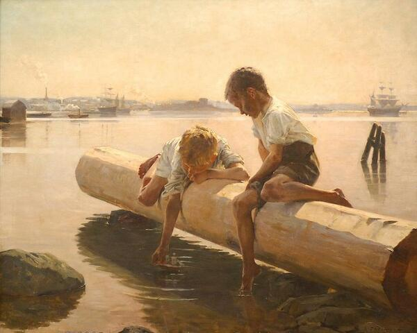 "Albert #Edelfelt 1854-1905 #peintre #figuratif #réalisme #art #Finlande ""The Little Boat"" http://t.co/Fyi3lyvijv"