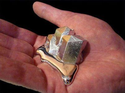 There is a metal called gallium that can melt in your hand http://t.co/ETPKBLEsX7