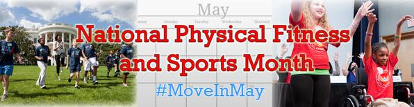 It's Fitness & Sports Month! Check out this toolkit for ways to #MoveInMay: http://t.co/lmHjlAHgPr.  #LetsMove http://t.co/ICnvJDq5u0