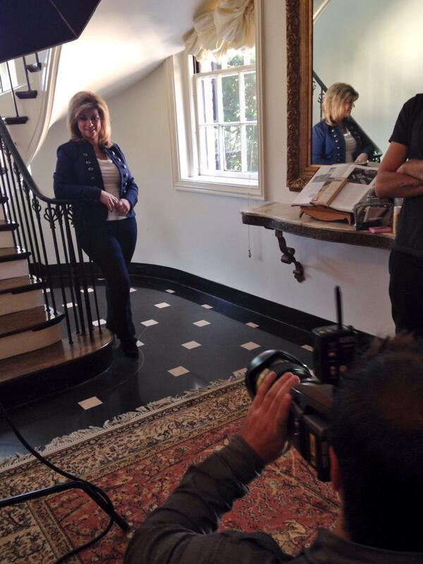 We're behind the scenes with @THEHAPPYMEDIUM getting ready for the new season! RT if you're excited! #TheHauntingOf http://t.co/5T9liZy4Io