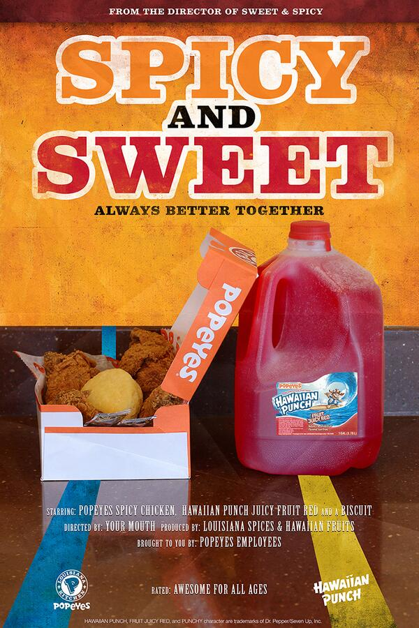 Sweet and spicy, Hawaiian Punch and Popeyes. The best way to #PunchItUp. http://t.co/BtBtLMj3pm