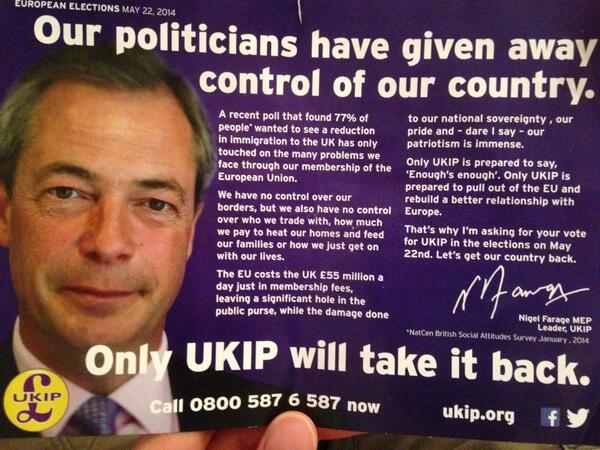could you at least make an effort @Nigel_Farage to NOT put this through the door of an immigrant. danke schön. http://t.co/fbd7qWM7Oy
