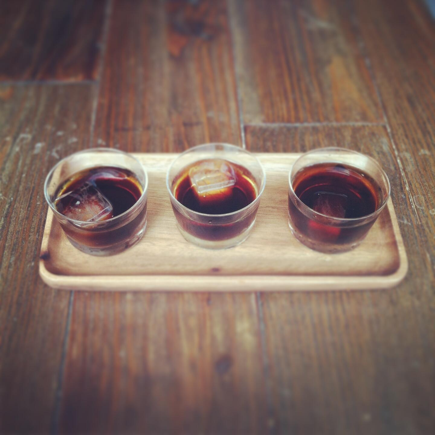 Single origin Oji-style iced coffee flights kick off tomorrow at Berry Street. Consider yourself cordially invited. http://t.co/JK1HxFRjAy