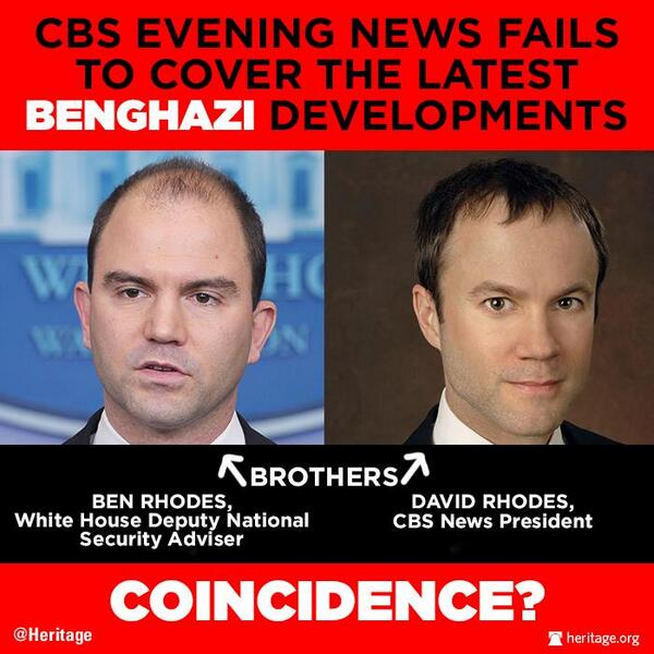 CBS evening news fails to cover the latestBenghazi developments... COINCIDENCE? @Heritage #Benghazi @CBCNews #PJNET http://t.co/WGAbBlOazt