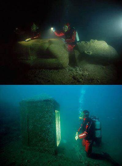 Finally, the lost Egyptian city of Heracleion has been revealed after spending 1,200-years under sea. http://t.co/VR3ByFCnEG