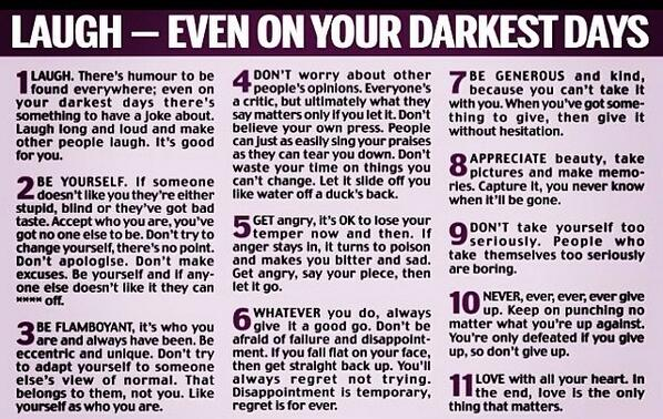 The words of advice Bob Hoskins gave to his daughter. Amazing. http://t.co/LfNWfmCkkQ