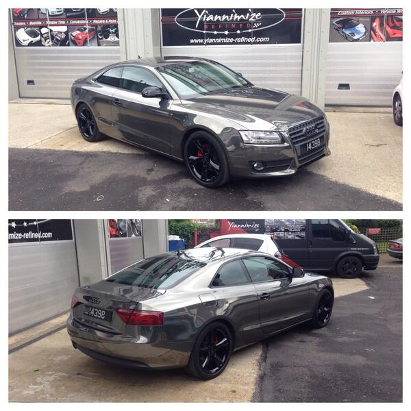 All finished for @wroetoshaw . Enjoy my friend. Custom audi A5 in chrome black. http://t.co/fC8e4d5Fru