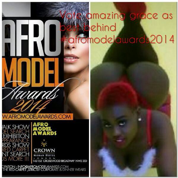 Hey ppl vote for me for best behind at #afromodelawards2014 afromodelawards  http://t.co/s1d4zP1Zv3 http://t.co/twDfT1bmYL