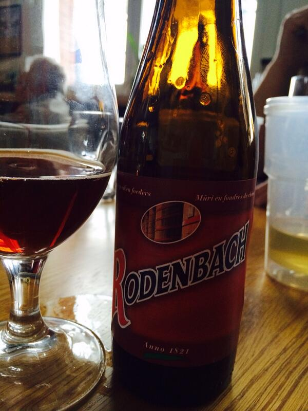 Rodenbach Flemish red ale and public enemy a strange but brilliant combo. @PeteBrownBeer #foodconnections http://t.co/9fq6oyv2CR