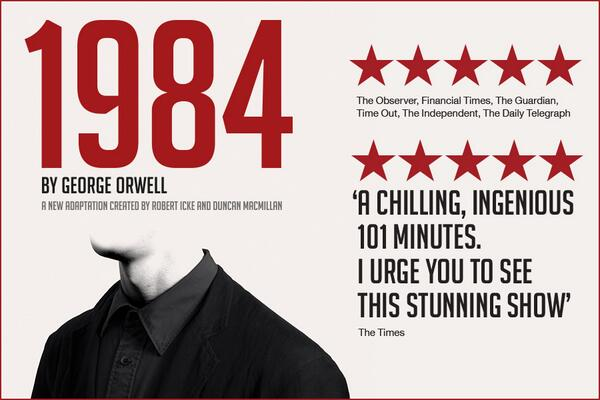 Retweet to win two tickets to @1984ThePlay http://t.co/0U06sXXv1T http://t.co/QC5js4Dae3