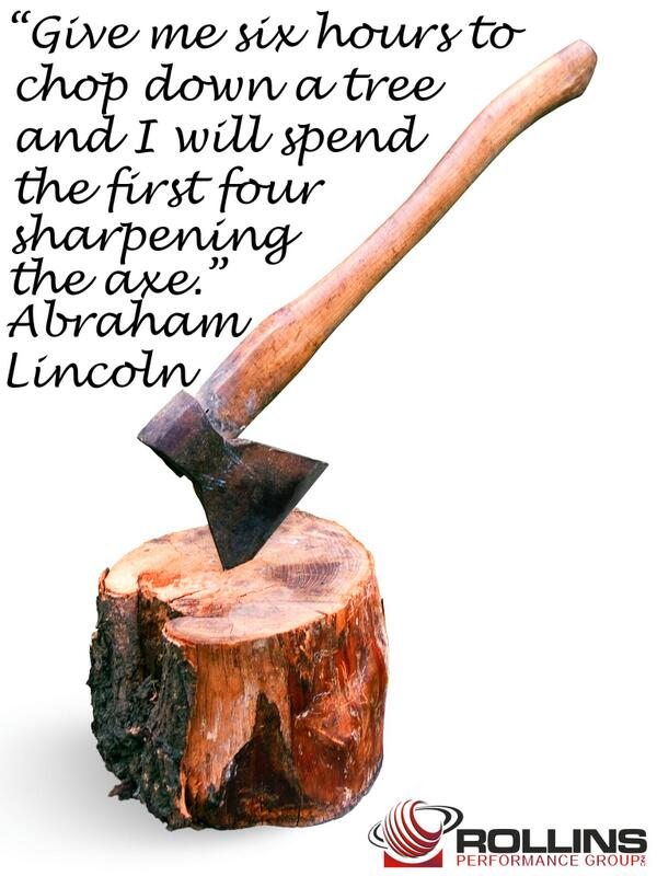 Investing in your development is the best way you can keep sharpening your own axe. http://t.co/Tydw5QPDVM