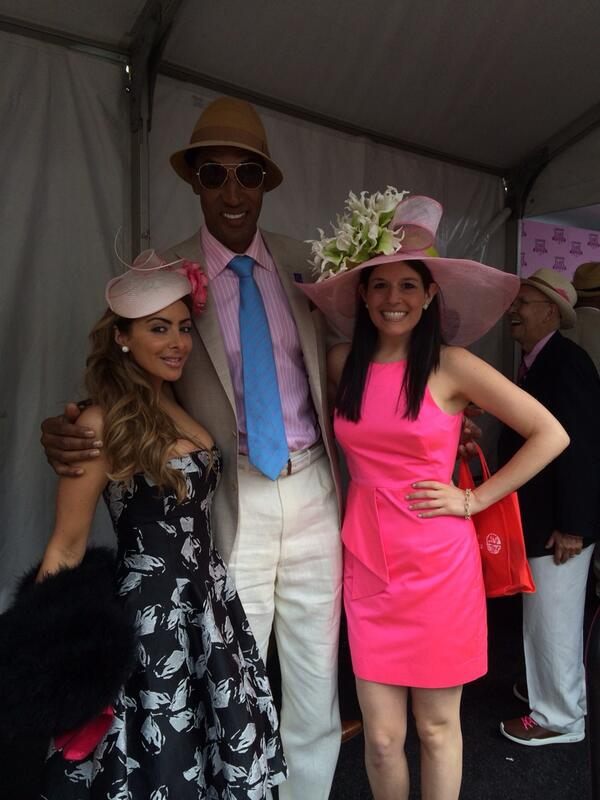 So great running into @larsapippen and @ScottiePippen at the #KYOaks #ChicagoDoesKentucky