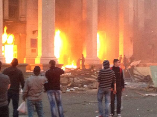 39 Die in Odessa as Pro-regime Rioters Set Trade Union Building Ablaze