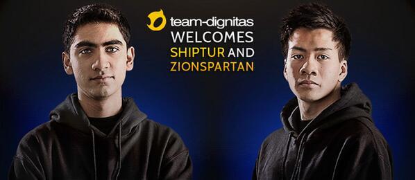 Team Dignitas signs @Shiphtur and @ZionSpartan - http://t.co/HYNjbcCQZU http://t.co/12viVQ8TNr