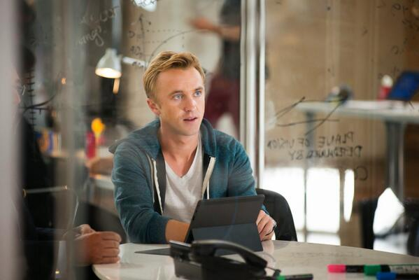 Here's a nice weekend dose of @TomFelton from @MurderFirstTNT, and his #BelleMovie is out now! http://t.co/1GvAcdiUNJ