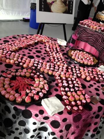 Some amazing cupcakery at #artbrakc. #breastcancer http://t.co/yE26xFre78