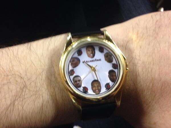 Right on time. #LillardTime http://t.co/7JD46T79vJ