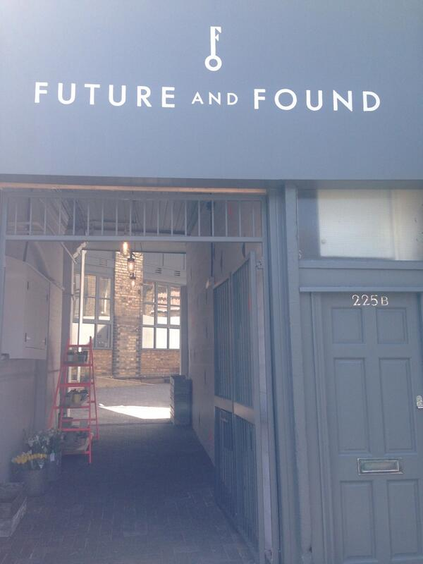 Just visited new design shop @FutureandFound in this cute courtyard in Tufnell Park http://t.co/1feG23gDfO