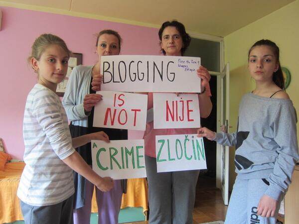 From Serbia, they say #FreeZone9Bloggers! You too support #pressfreedom. Add your voice here: http://t.co/aHIS0d7XGS http://t.co/YTSI9nBQrw