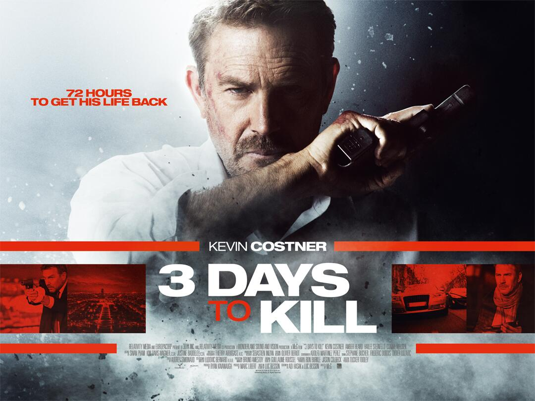 Kevin Costner gets moody/beardy in our exclusive UK poster for 3 Days to Kill! http://t.co/9OYxsanj7M