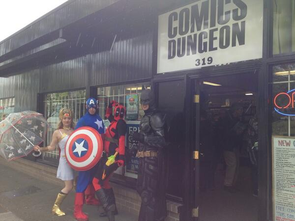 Free comic book day at comic dungeon http://t.co/grpdclFYck