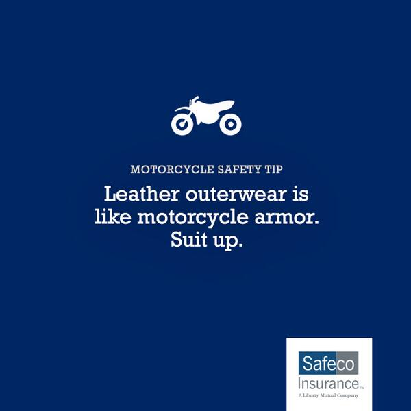 There's a reason bikers wear leather: for protection. RT to share this safe-riding tip http://t.co/U4kfIeUESY http://t.co/KYFIXBUXeD