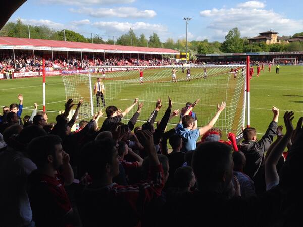 #BristolCity fans expressing their sympathy for #BristolRovers fans this afternoon at Crawley. http://t.co/3IpD78YxNT