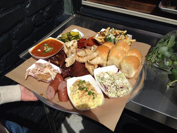 We're open for business! #bbq  705 divis & grove. Come hungry!! http://t.co/LtAfnDce3O