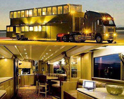 Ashton Kutcher's luxurious two-story trailer. http://t.co/BOqXmLc29J