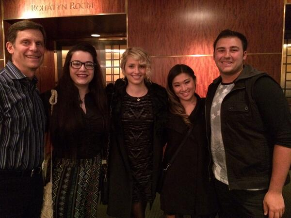 Just met Diana Agron and Jenna Ushkowitz at Kristin Chenoweth's show at Carnegie Hall! So sweet!!! ❤️❤️