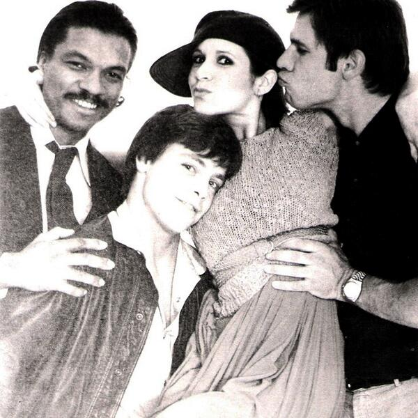 Billy Dee Williams, Mark Hamill, Carrie Fisher and Harrison Ford. #StarWarsDay #MayThe4thBeWithYou http://t.co/WUizPHHkdZ