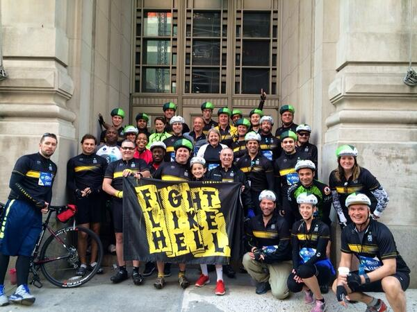 Ready to ride the streets of NYC this morning! #TDFBBT #bikenewyork #fightwithus http://t.co/AsnfNs6z5L