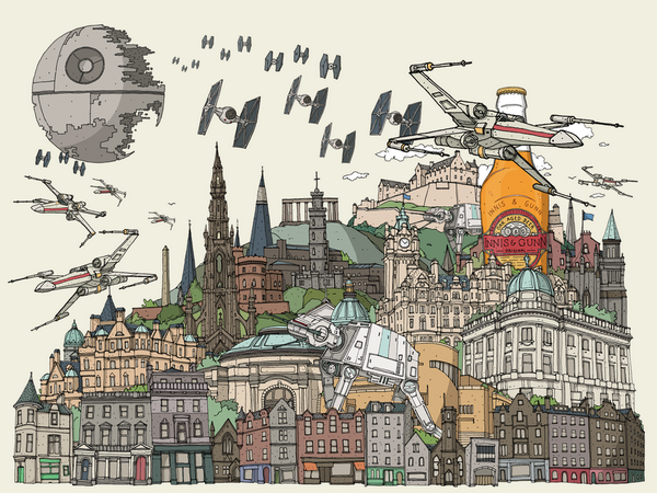 Love Edinburgh? Star Wars? How about beer? Then you might enjoy our #StarWarsDay skyline. Check it out. #MayThe4th http://t.co/b2P9k2IAGg
