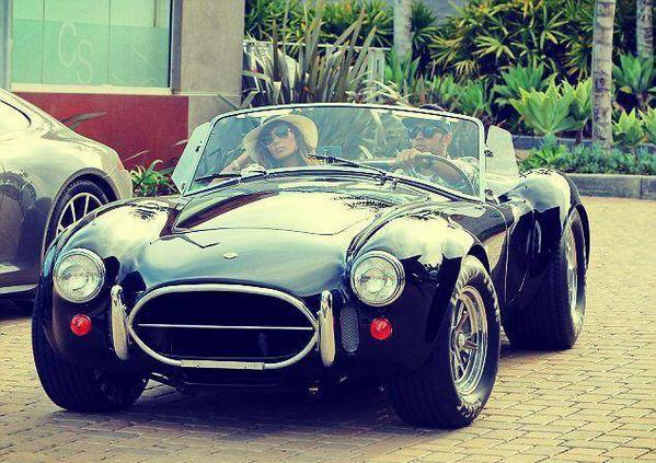 Yay!! Finally get to see @LewisHamilton #AC #Cobra -still no idea on its spec and its in Malibu! Great car though! :) http://t.co/gw17y1bzER