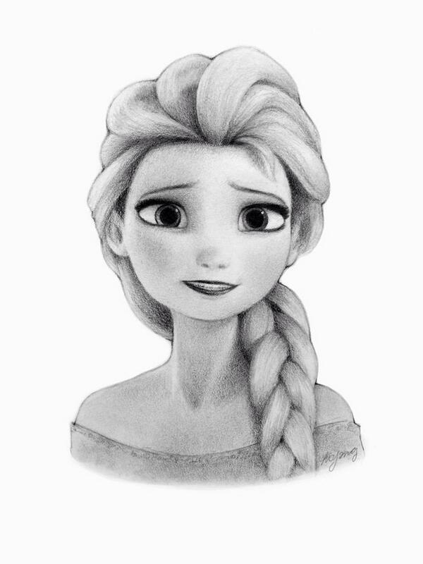 RT @DrawingX: Disney's Frozen: Elsa ' http://t.co/UQc7tGJZKI