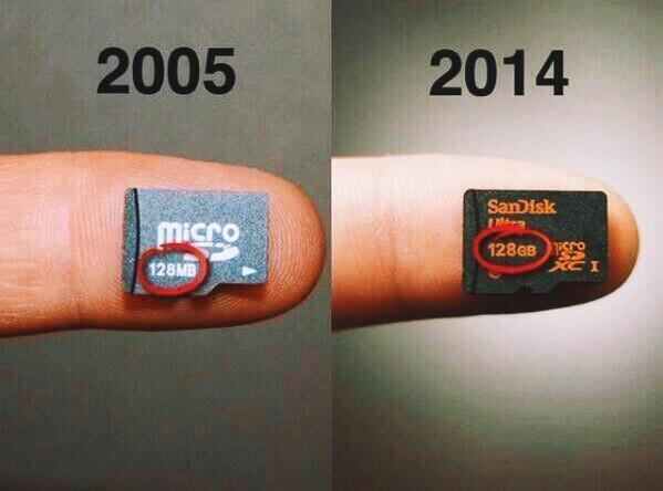 "Giving the finger to the Valley ""@johnmaeda: Moore's Law (128Mb to 128Gb): http://t.co/sCaxwt0Rvl via @HistoryInPics http://t.co/r3M3x78Mkg"""