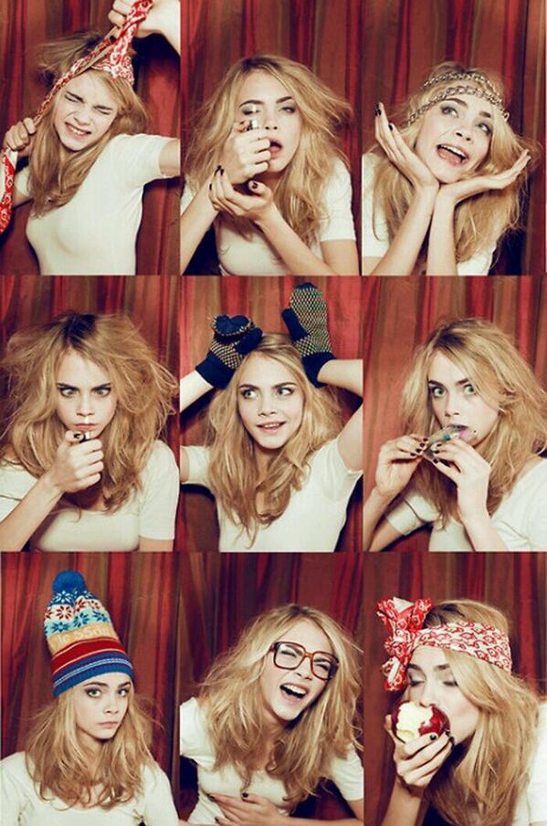 Cara Delevigne, tee shirts and funny faces. http://t.co/FKs6e5nsPO http://t.co/VYXL7GEnTy